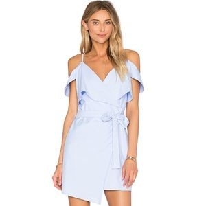 NWT Lucca X Revolve Wrap Dress In Baby Blue